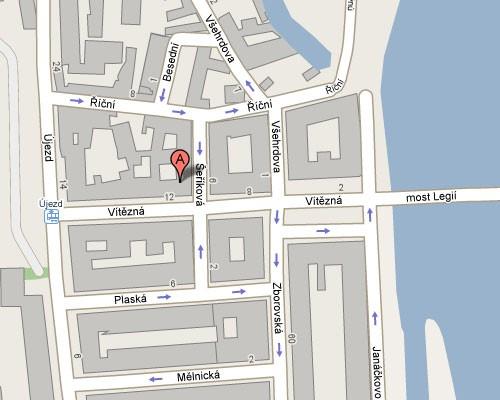 Mapa kamenné prodejny_google